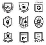 Iconos del boxeo Imágenes de archivo libres de regalías