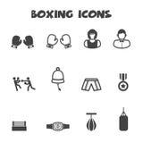 Iconos del boxeo Fotografía de archivo libre de regalías