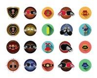 Iconos del boxeo fijados Imagenes de archivo
