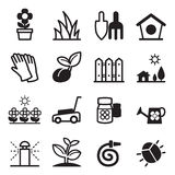 Iconos del césped Fotografía de archivo