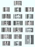 Iconos del código de barras Foto de archivo libre de regalías