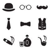 Iconos del caballero Imágenes de archivo libres de regalías