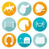 Iconos del caballo Imágenes de archivo libres de regalías