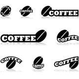 Iconos del café ilustración del vector