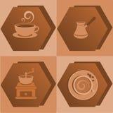 Iconos del café Imagen de archivo libre de regalías