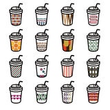 Iconos del café Imagenes de archivo