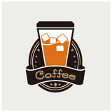 Iconos del café de hielo Vector y ejemplo Imágenes de archivo libres de regalías