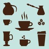 Iconos del café fijados Foto de archivo libre de regalías