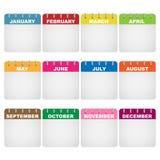 Iconos del calendario Imágenes de archivo libres de regalías