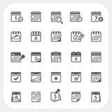Iconos del calendario fijados Imagen de archivo