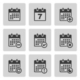 Iconos del calendario fijados Fotografía de archivo