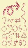 Iconos del caramelo de la flecha Imagenes de archivo