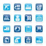 Iconos del cargo, logísticos y del envío Fotografía de archivo libre de regalías
