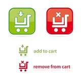 Iconos del carro de compras Fotos de archivo libres de regalías