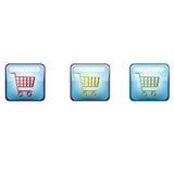 Iconos del carro de compras Fotografía de archivo