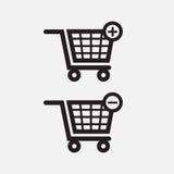 Iconos del carro de la mano de las compras Imagen de archivo libre de regalías