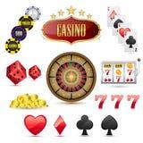 Iconos del casino Imágenes de archivo libres de regalías
