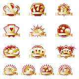 Iconos del casino Fotografía de archivo