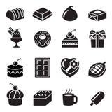 Iconos del chocolate Foto de archivo libre de regalías