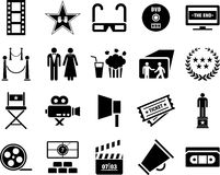 Iconos del cine ilustración del vector