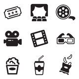 Iconos del cine Imagenes de archivo
