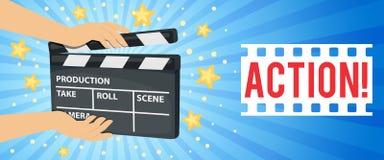 Iconos del cine fijados imagen de archivo libre de regalías