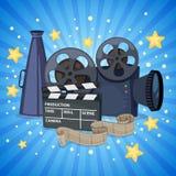 Iconos del cine fijados fotografía de archivo