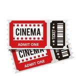 Iconos del cine fijados imágenes de archivo libres de regalías