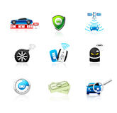 Iconos del coche Foto de archivo libre de regalías