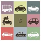 Iconos del coche Imagen de archivo libre de regalías