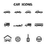 Iconos del coche Imágenes de archivo libres de regalías
