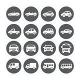 Iconos del coche Fotos de archivo