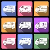 Iconos del coche de entrega Imagen de archivo libre de regalías