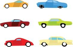 Iconos del coche de la barra caliente Imagenes de archivo