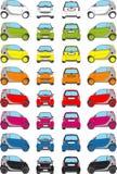 Iconos del coche del color ilustración del vector