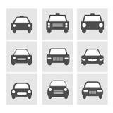 Iconos del coche fijados Imagen de archivo