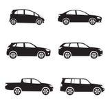 Iconos del coche fijados Foto de archivo libre de regalías