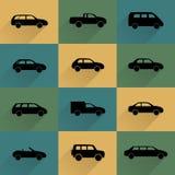 Iconos del coche fijados Imagenes de archivo