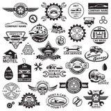 Iconos del coche fijados Fotografía de archivo