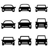 Iconos del coche y del automóvil Fotografía de archivo libre de regalías