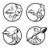 Iconos del cocinero fijados Foto de archivo libre de regalías