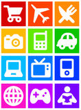Iconos del color Foto de archivo libre de regalías