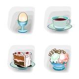Iconos del color, comida Fotografía de archivo libre de regalías
