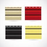 Iconos del color de la muestra de la textura que echan a un lado pequeños. Imagenes de archivo