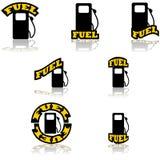 Iconos del combustible ilustración del vector