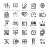Iconos del comercio de Digitaces Imagen de archivo