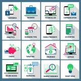 Iconos del comercio del préstamo de las finanzas del negocio Imagenes de archivo