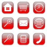 Iconos del comercio del Web fijados stock de ilustración