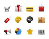 Iconos del comercio electrónico Fotos de archivo libres de regalías