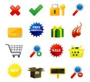 Iconos del comercio electrónico Imagenes de archivo
